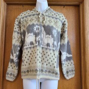 Tejidos Aly Marka Wool Llama Hooded Jacket S